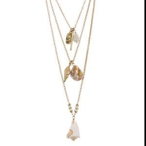 Melrose and Market 3-Layer Shell Charm Necklace